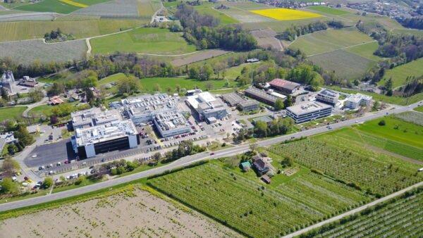 The Aubonne biotech manufacturing site of Merck.